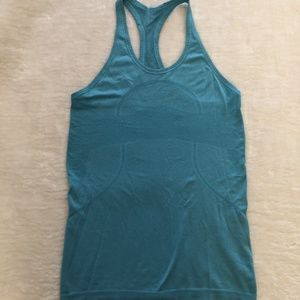 LuluLemon Turquoise Blue Racer Back Tank Top